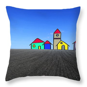 Houses. Field Concept Throw Pillow