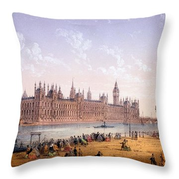 Houses Of Parliament From The South Throw Pillow