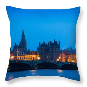 Houses Of Parliament Throw Pillow by Inge Johnsson