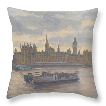 Houses Of Parliament Throw Pillow by Julian Barrow