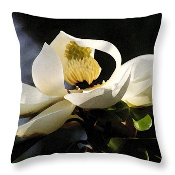 Houston Magnolia Throw Pillow