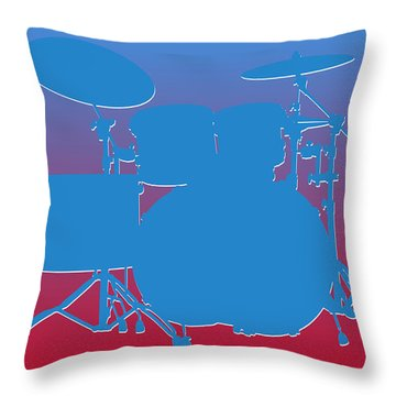 Houston Oilers Drum Set Throw Pillow by Joe Hamilton