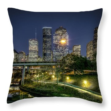Houston On The Bayou Throw Pillow