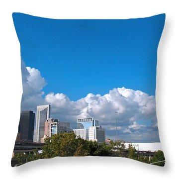 Houston Skyline Southeast Throw Pillow