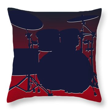 Houston Texans Drum Set Throw Pillow by Joe Hamilton