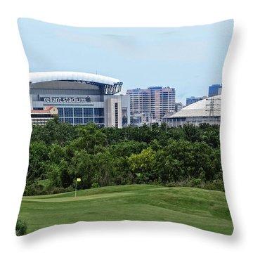 Houston Texas Throw Pillow by Ella Kaye Dickey
