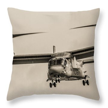 Hover Bw Throw Pillow