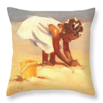 How Castles Start Throw Pillow by Mary Hubley