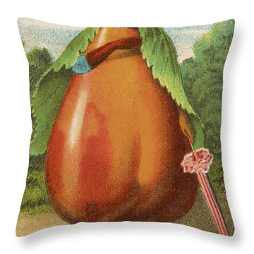 How Do I A Pear Throw Pillow by Aged Pixel