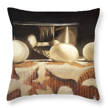 How Does Eggs For Breakfast Sound? Throw Pillow