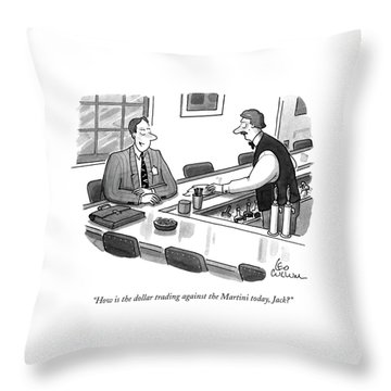 How Is The Dollar Trading Against The Martini Throw Pillow