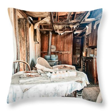 How Long Until Breakfast Throw Pillow by Cat Connor