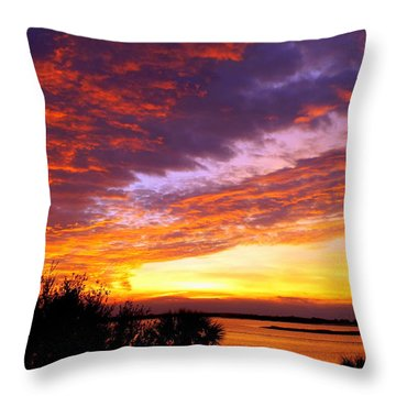 How Sweet The Sound Throw Pillow by Karen Wiles