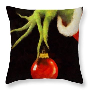 How The Grinch Stole Christmas Throw Pillow by Dan Sproul