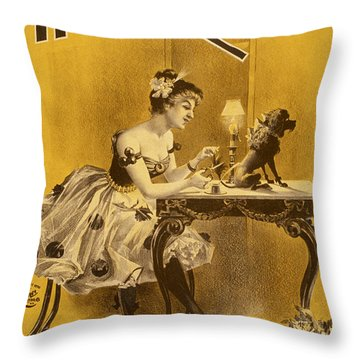 How The High Roller Girls Do It Throw Pillow by Aged Pixel