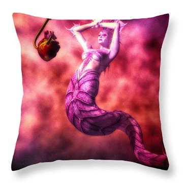 How To Catch Mermaids Throw Pillow by Bob Orsillo