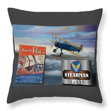 How To Fly Stearman Pt-17 Throw Pillow