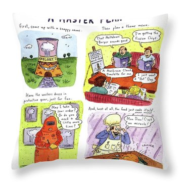How To Turn A Closed-down Nuclear Reactor Throw Pillow