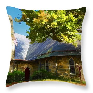 Throw Pillow featuring the photograph Howard County Historical Society Museum by Dana Sohr