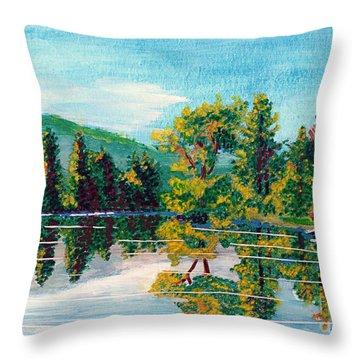 Howarth Park Throw Pillow by Denise Deiloh