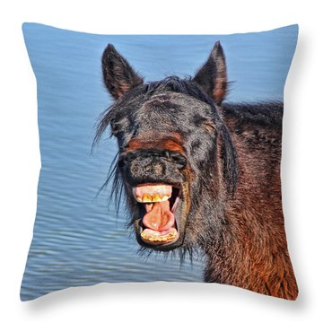 Howdy Throw Pillow by Tammy Espino