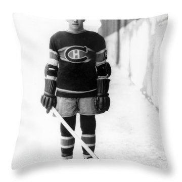 Howie Morenz Poster Throw Pillow by Gianfranco Weiss