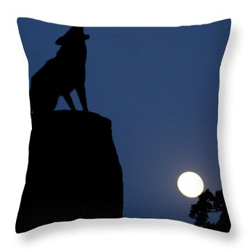 Howl Throw Pillow by Diane Bohna