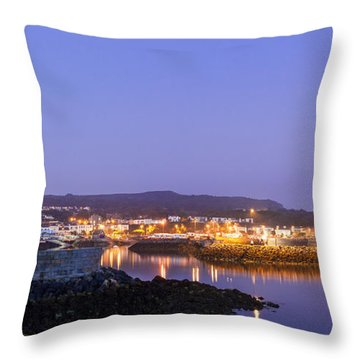 Howth Harbour Lighthouse Throw Pillow by Semmick Photo