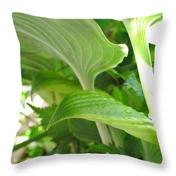 Hosta Throw Pillow