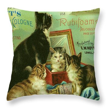 Hoyts Cats Throw Pillow by Georgia Fowler