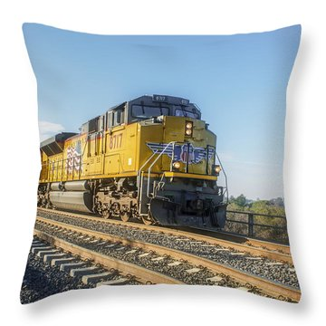 Throw Pillow featuring the photograph Hp 8717 by Jim Thompson