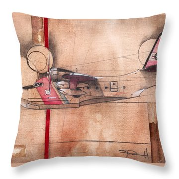 Hu 16 Albatross Throw Pillow