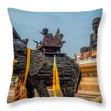 Huay Mongkol Temple  Throw Pillow by Adrian Evans