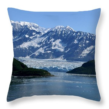 Hubbard Glacier Throw Pillow by Barbara Stellwagen