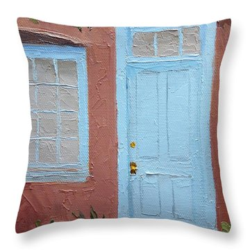 Hubbell Home Doorway Throw Pillow by Susan Woodward