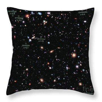 Hubble Extreme Deep Field Xdf Throw Pillow by Science Source