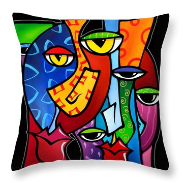 Huddle Up By Fidostudio Throw Pillow by Tom Fedro - Fidostudio