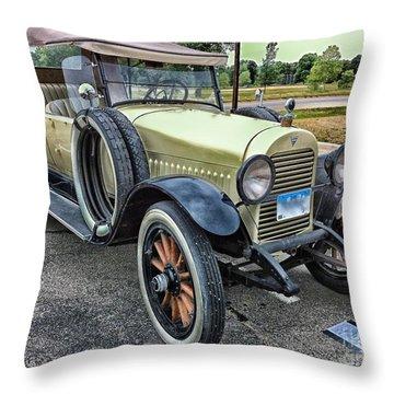 Throw Pillow featuring the photograph hudson 1921 phaeton car HDR by Paul Fearn