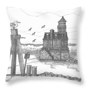 Hudson-athens Lighthouse Throw Pillow