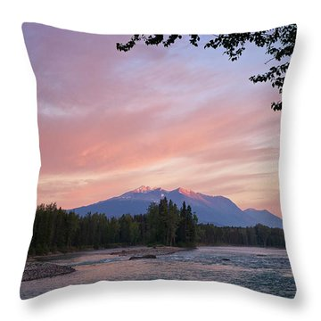 Hudson Bay Mountain British Columbia Throw Pillow