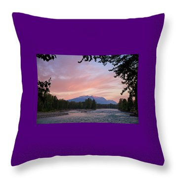 Throw Pillow featuring the photograph Hudson Bay Mountain British Columbia by Mary Lee Dereske