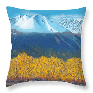 Hudson Bay Mountain Throw Pillow