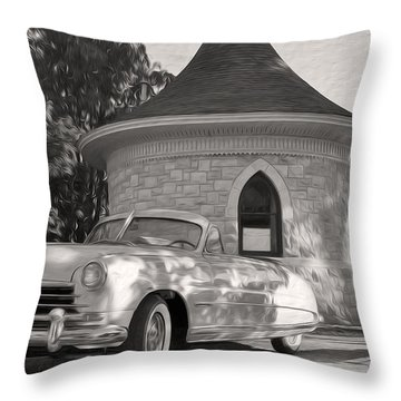 Throw Pillow featuring the photograph Hudson Commodore Convertible by Verana Stark