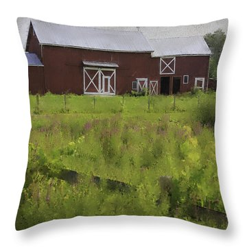 Hudson Valley Barn Throw Pillow