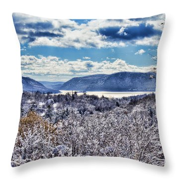 Hudson Valley First Snow Mystic Colors Throw Pillow