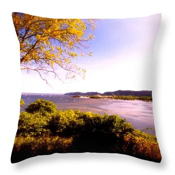 Hudson Valley  Photograph  Throw Pillow by Iconic Images Art Gallery David Pucciarelli