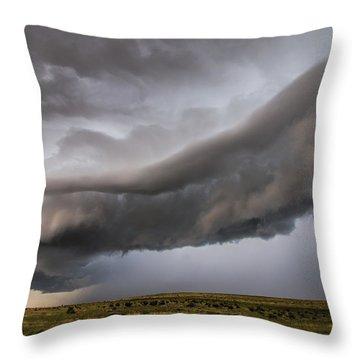 Huerfano Shelf Cloud Throw Pillow