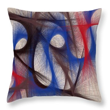 Hues Of Blue Throw Pillow by Marian Palucci-Lonzetta