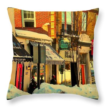Hues On The Rue Throw Pillow