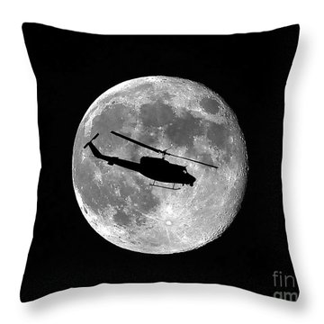 Huey Moon Throw Pillow by Al Powell Photography USA